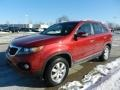 2011 Spicy Red Kia Sorento LX AWD  photo #7