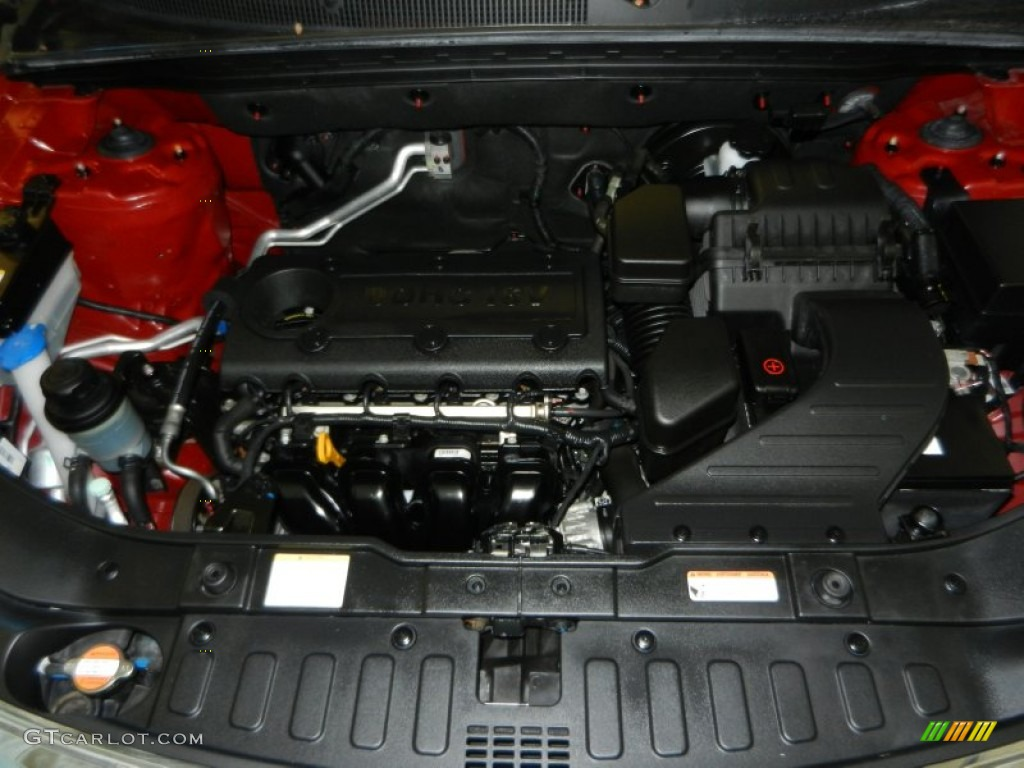 2011 Sorento LX AWD - Spicy Red / Gray photo #10