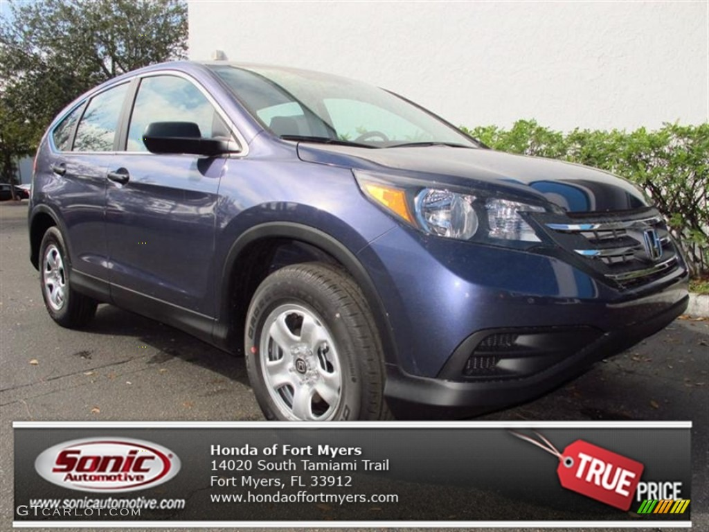 2013 CR-V LX - Twilight Blue Metallic / Gray photo #1
