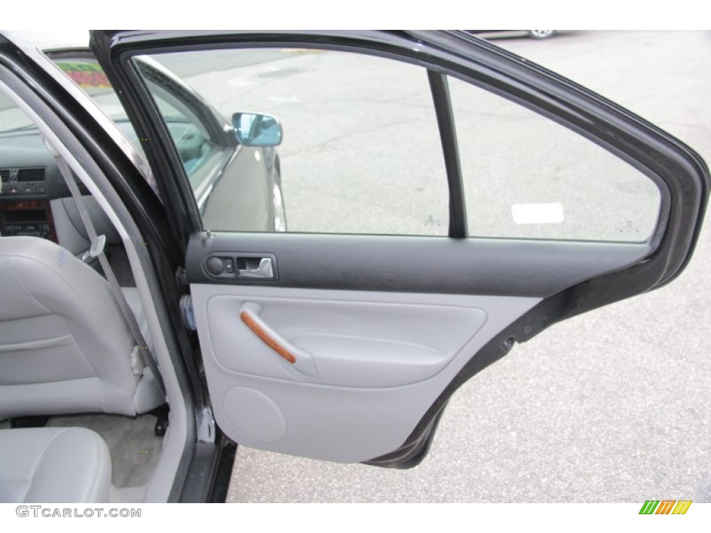 2000 Volkswagen Jetta Glx Vr6 Sedan Gray Door Panel Photo 77072623