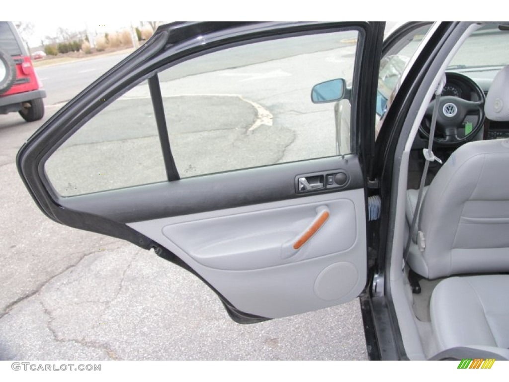 2000 Volkswagen Jetta Glx Vr6 Sedan Gray Door Panel Photo 77072655