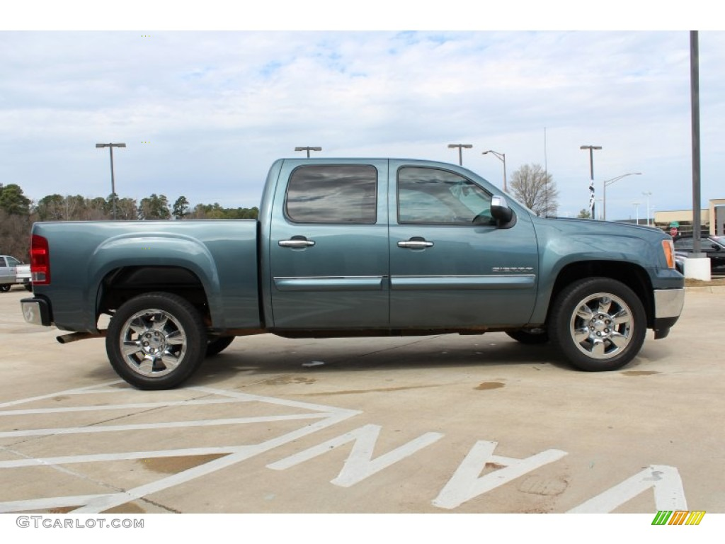 stealth gray metallic 2011 gmc sierra 1500 sle crew cab exterior photo 77079518. Black Bedroom Furniture Sets. Home Design Ideas