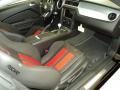 2013 Ford Mustang Shelby Charcoal Black/Red Accent Recaro Sport Seats Interior Interior Photo