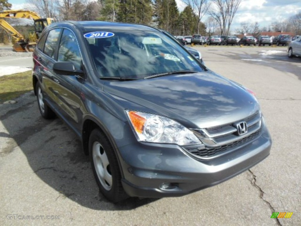 2011 CR-V LX 4WD - Polished Metal Metallic / Black photo #1