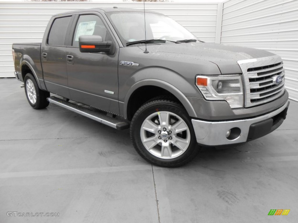 2013 sterling gray metallic ford f150 lariat supercrew 77077262 car color. Black Bedroom Furniture Sets. Home Design Ideas