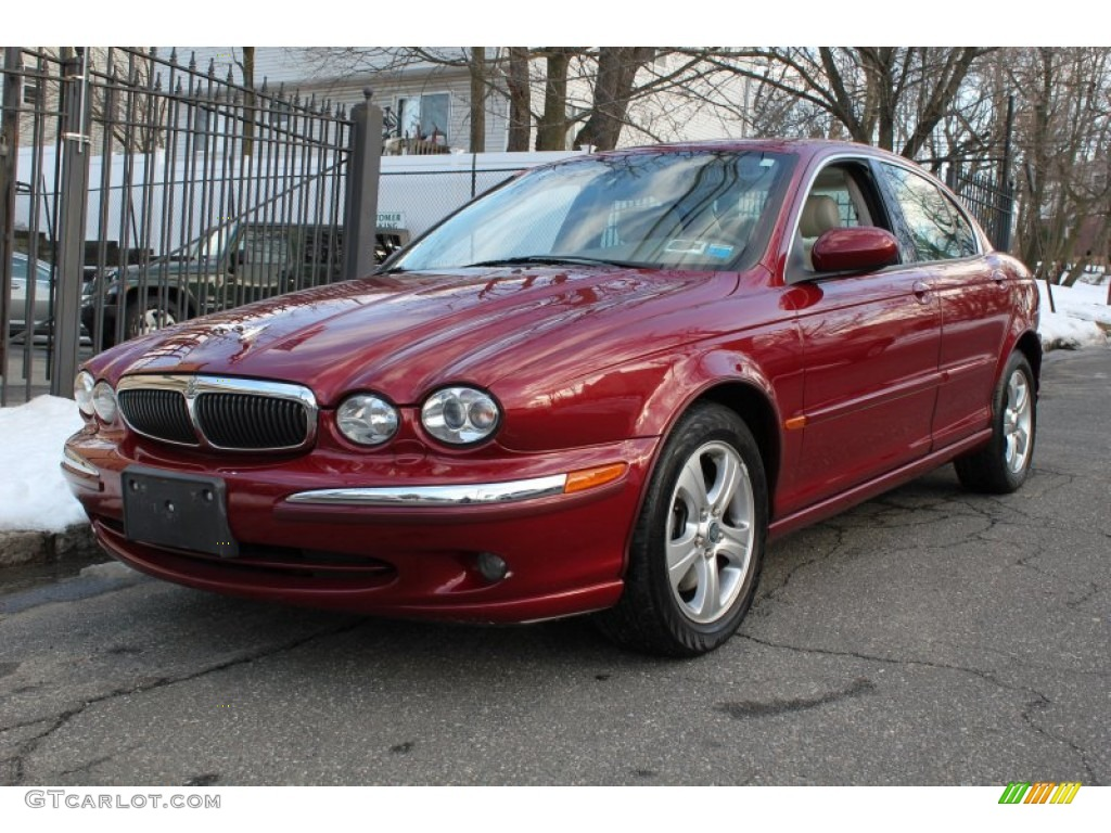 carnival red metallic 2002 jaguar x type 3 0 exterior photo 77114089. Black Bedroom Furniture Sets. Home Design Ideas