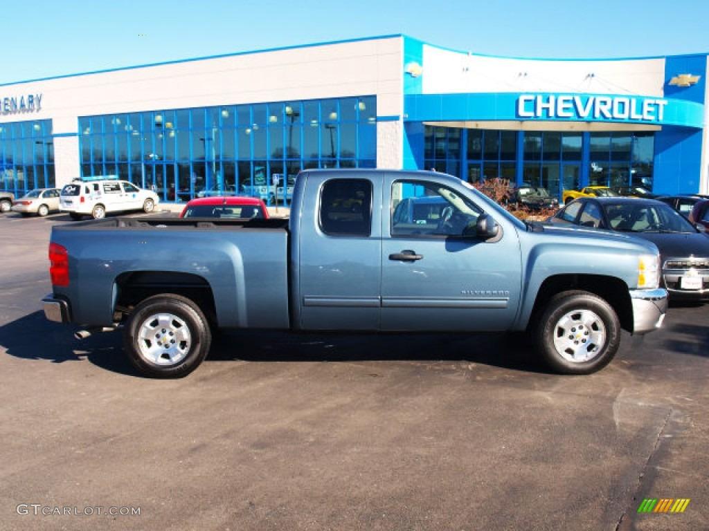 2012 Silverado 1500 LT Extended Cab - Blue Granite Metallic / Ebony photo #1