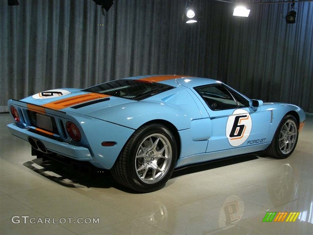Blue Orange  Ford Gt Heritage Exterior Photo