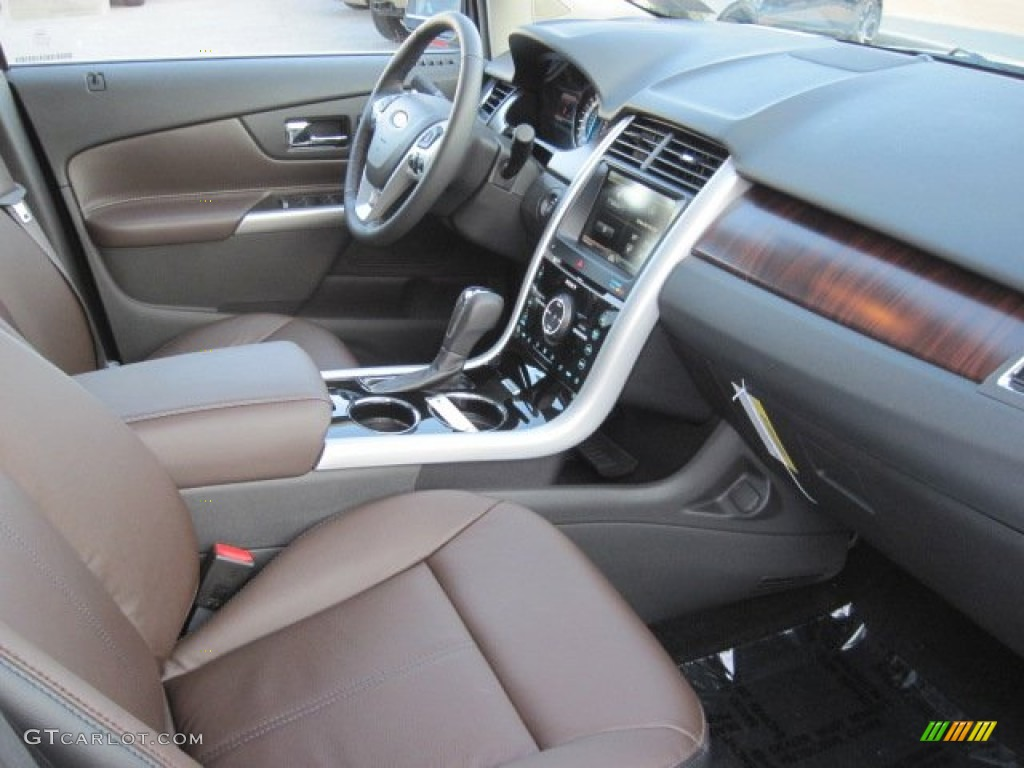 Sienna/Charcoal Black Interior 2013 Ford Edge Limited AWD Photo #77126601