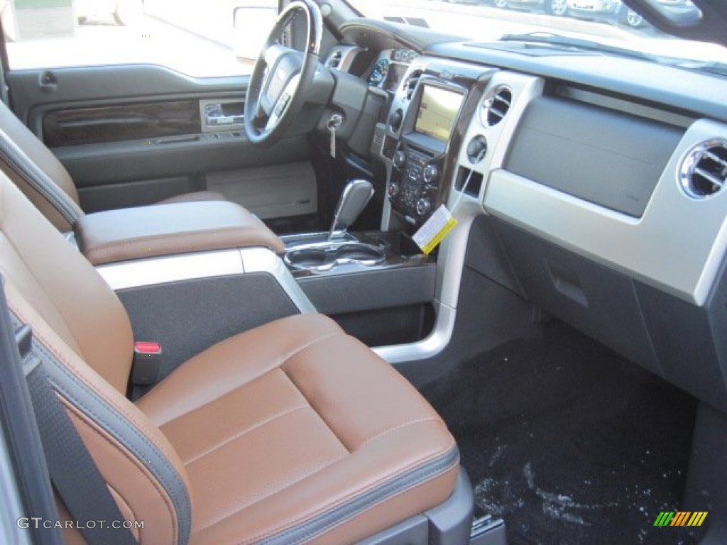 platinum unique pecan leather interior 2013 ford f150. Black Bedroom Furniture Sets. Home Design Ideas