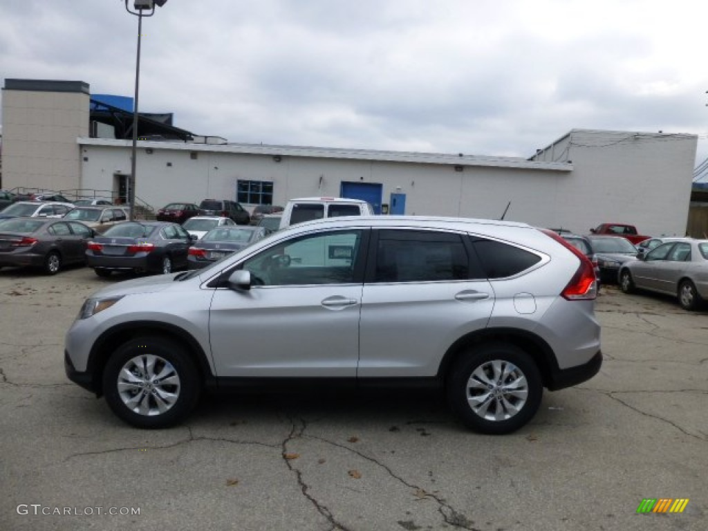 2013 CR-V EX-L AWD - Alabaster Silver Metallic / Black photo #1