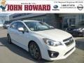 Satin White Pearl 2012 Subaru Impreza 2.0i Sport Premium 5 Door