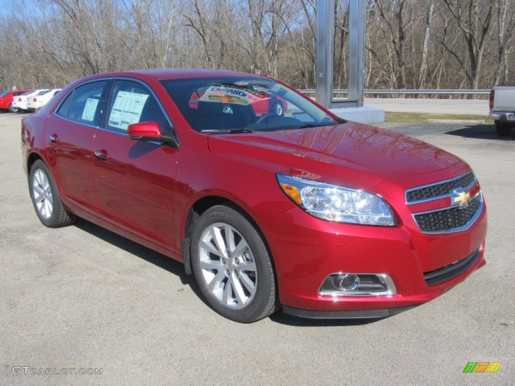 Crystal Red Tintcoat 2013 Chevrolet Malibu Lt Exterior Photo 77173173