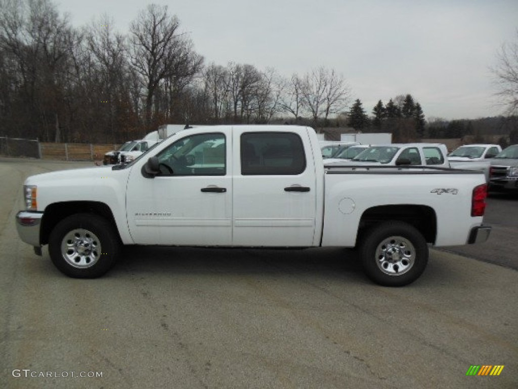 2012 Silverado 1500 LS Crew Cab 4x4 - Summit White / Dark Titanium photo #1