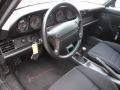 1993 Porsche 911 Black Interior Steering Wheel Photo