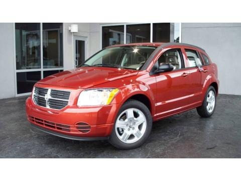 2009 Sunburst Orange Pearl Dodge Caliber SXT
