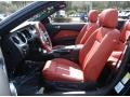 2013 Ford Mustang Brick Red/Cashmere Accent Interior Front Seat Photo