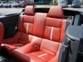 2013 Ford Mustang Brick Red/Cashmere Accent Interior Rear Seat Photo