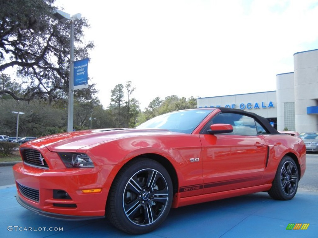 2013 Race Red Ford Mustang GT/CS California Special Convertible ...