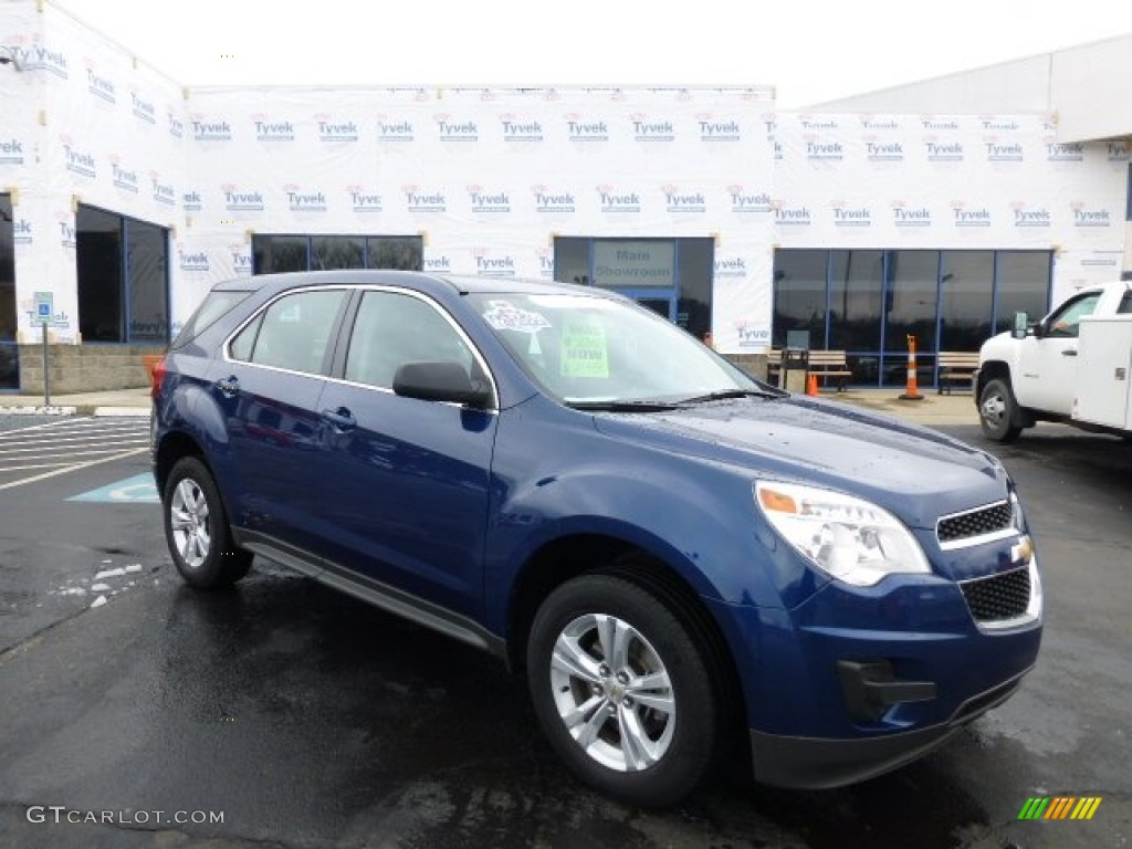 2010 Equinox LS AWD - Navy Blue Metallic / Jet Black/Light Titanium photo #1