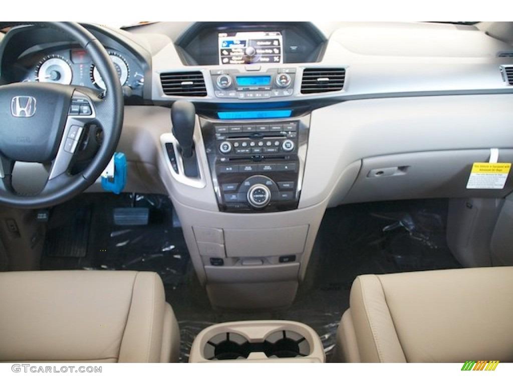 2013 Honda Odyssey Touring Elite Beige Dashboard Photo #77229031 ...