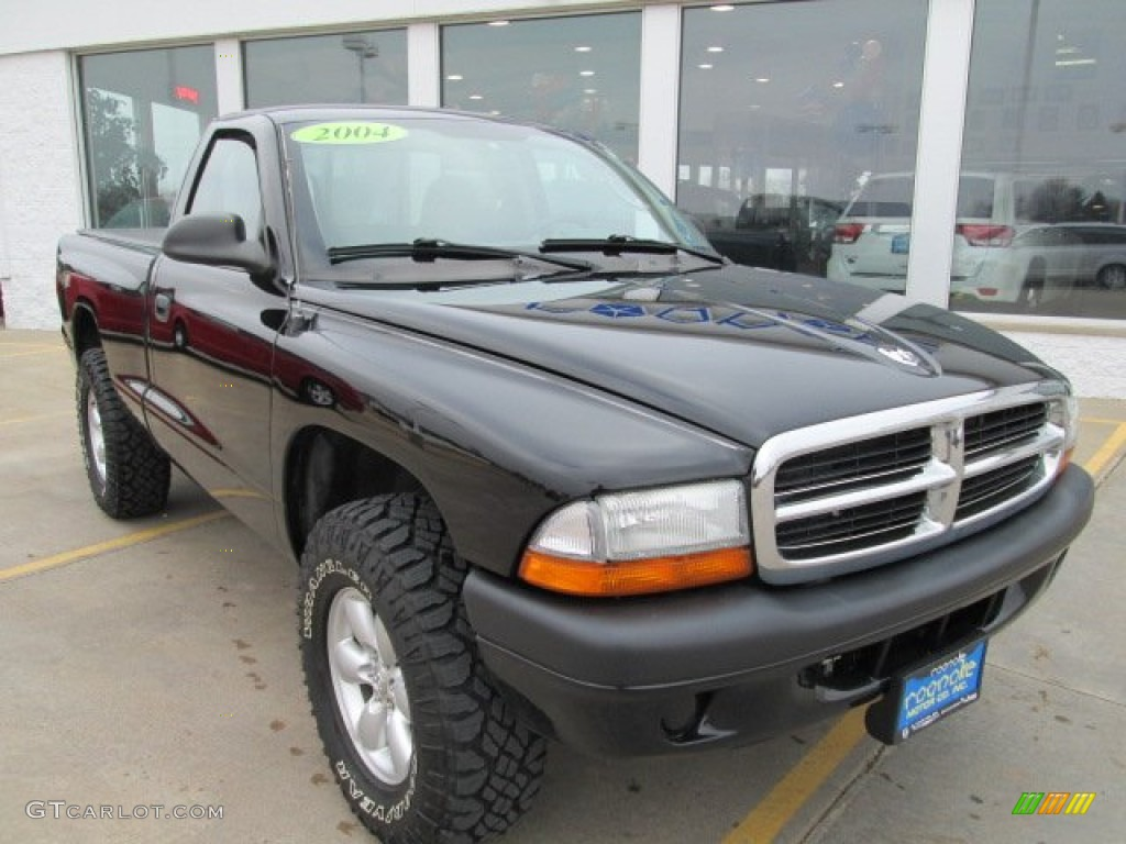 2004 Dakota Sport Regular Cab 4x4 - Black / Dark Slate Gray photo #5