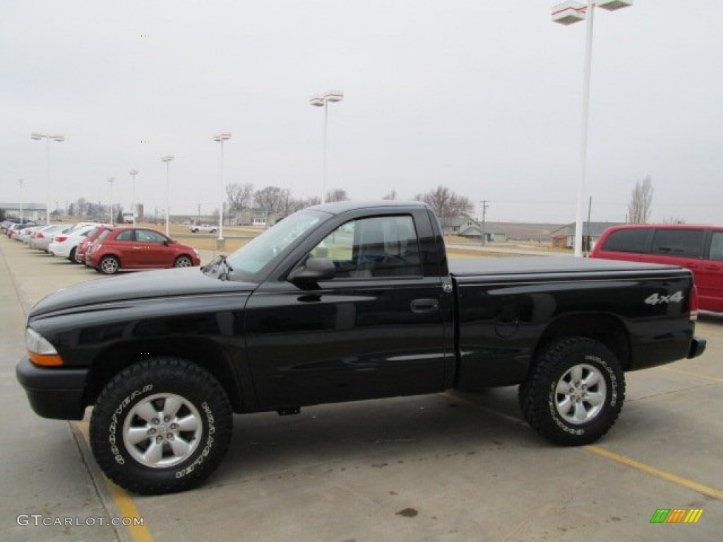 2004 Dakota Sport Regular Cab 4x4 - Black / Dark Slate Gray photo #8
