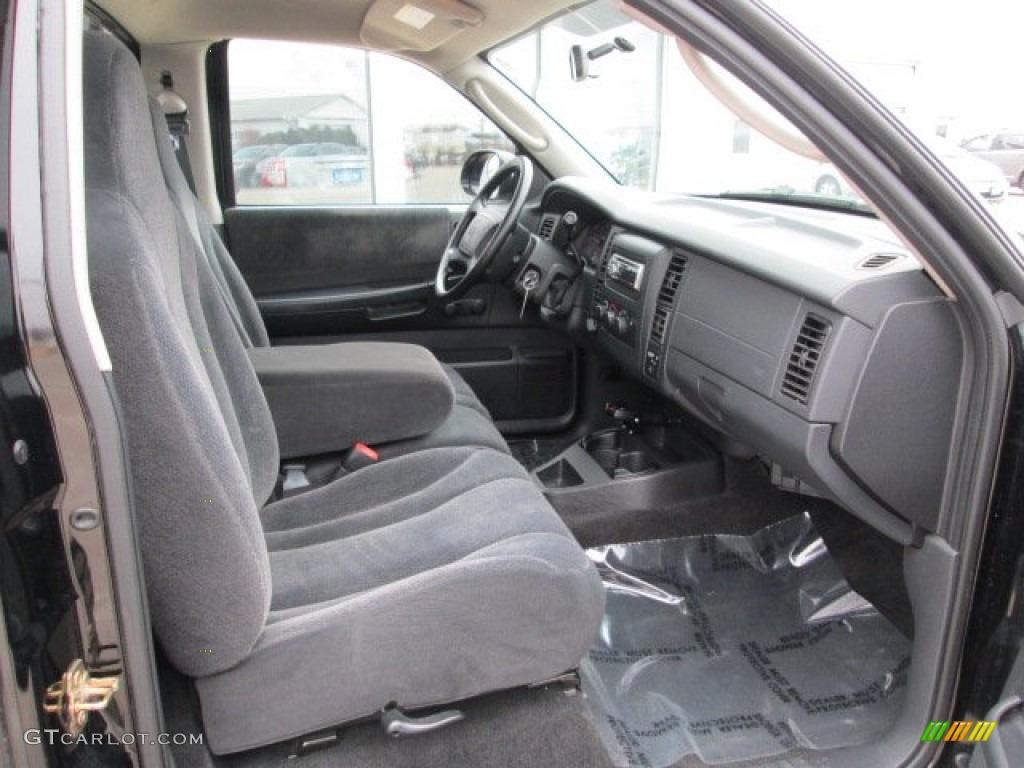 2004 Dakota Sport Regular Cab 4x4 - Black / Dark Slate Gray photo #21