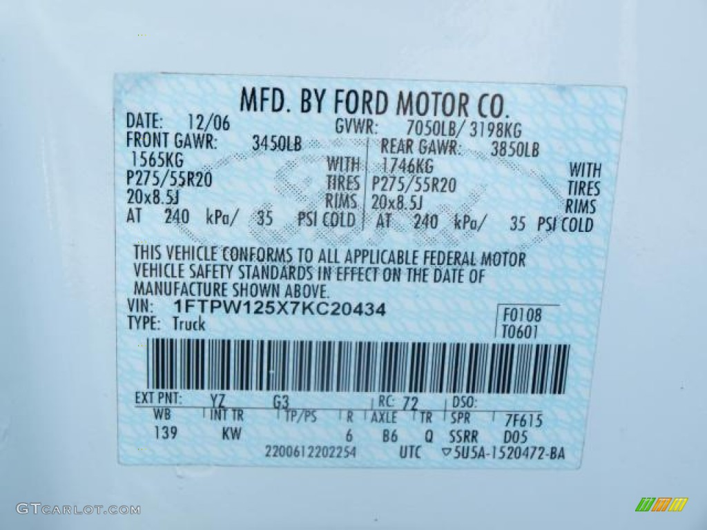 2007 Ford F 150 Xlt >> 2007 Ford F150 King Ranch SuperCrew Color Code Photos ...