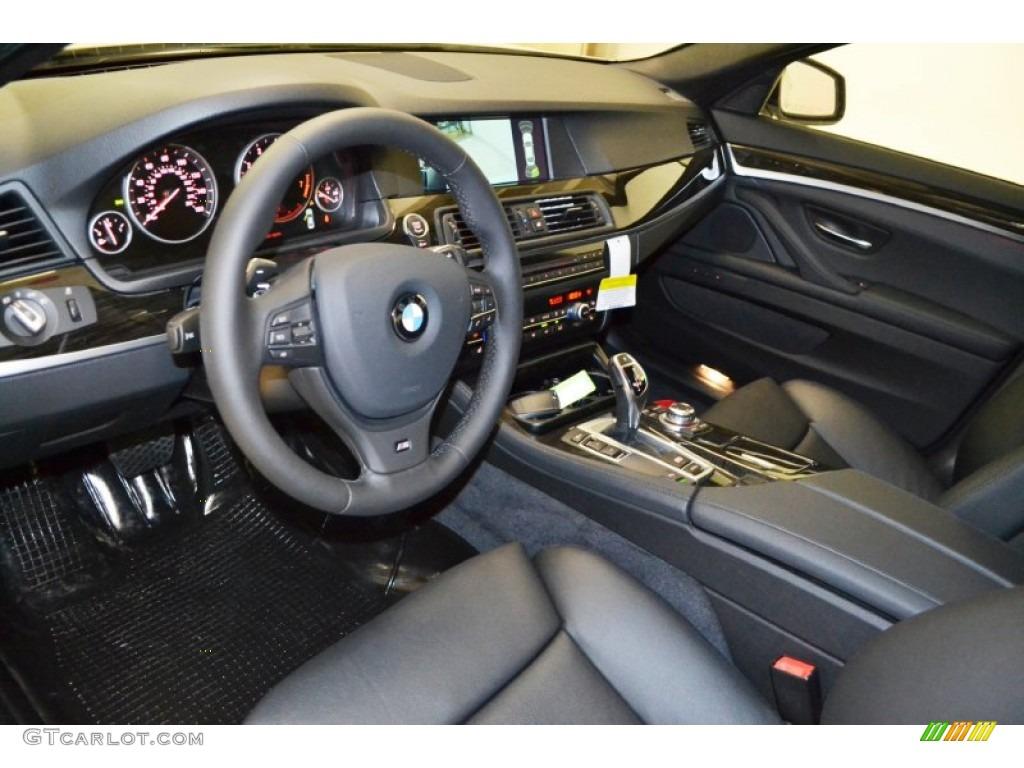 Black Interior 2013 Bmw 5 Series 535i Sedan Photo