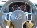 2006 Infiniti FX Wheat Interior Steering Wheel Photo