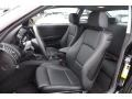 2009 BMW 1 Series Black Interior Front Seat Photo