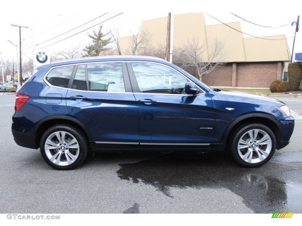 Deep Sea Blue Metallic 2013 Bmw X3 Xdrive 35i Exterior
