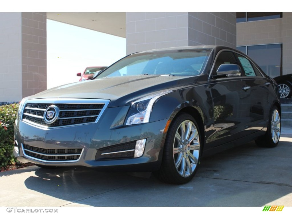 2013 thunder gray chromaflair cadillac ats 3 6l premium 77270638 car color. Black Bedroom Furniture Sets. Home Design Ideas