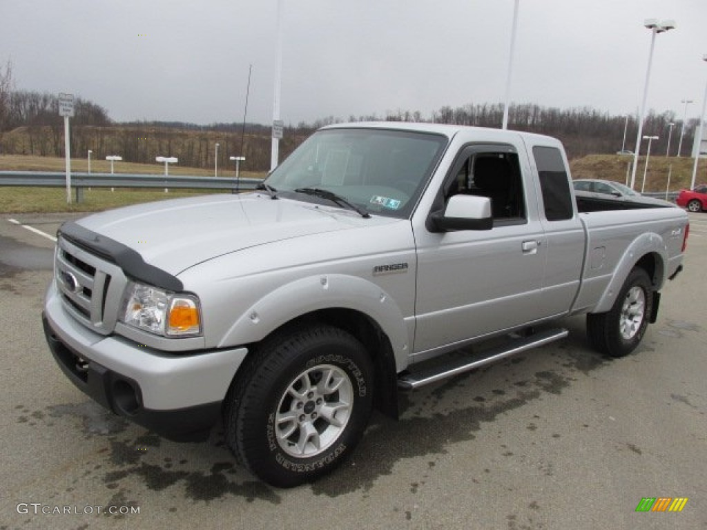 silver metallic 2011 ford ranger sport supercab 4x4 exterior photo 77296509. Black Bedroom Furniture Sets. Home Design Ideas