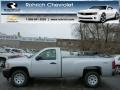 2013 Silver Ice Metallic Chevrolet Silverado 1500 Work Truck Regular Cab 4x4  photo #1