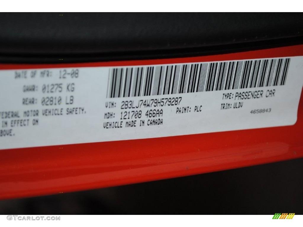 2009 challenger color code plc for hemi orange photo 77311596