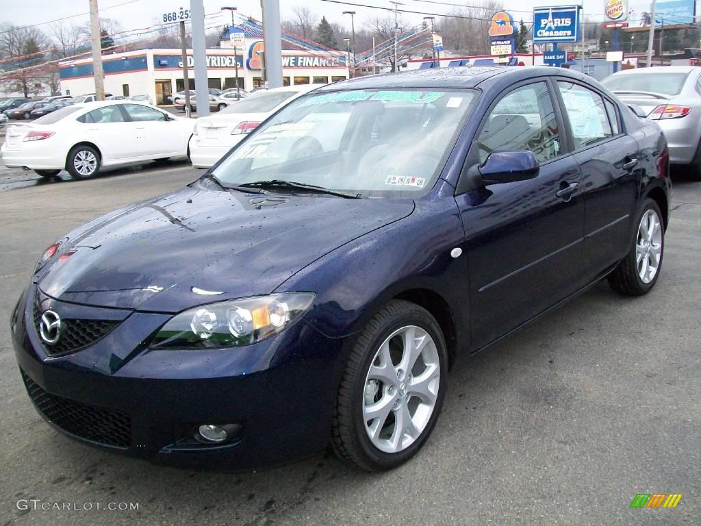 2009 stormy blue mica mazda mazda3 i touring sedan 7702946 car color galleries. Black Bedroom Furniture Sets. Home Design Ideas