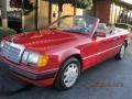 Red 1993 Mercedes-Benz E Class 300 CE Cabriolet