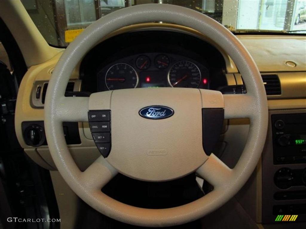 2005 ford five hundred se pebble beige steering wheel photo 77350729. Black Bedroom Furniture Sets. Home Design Ideas