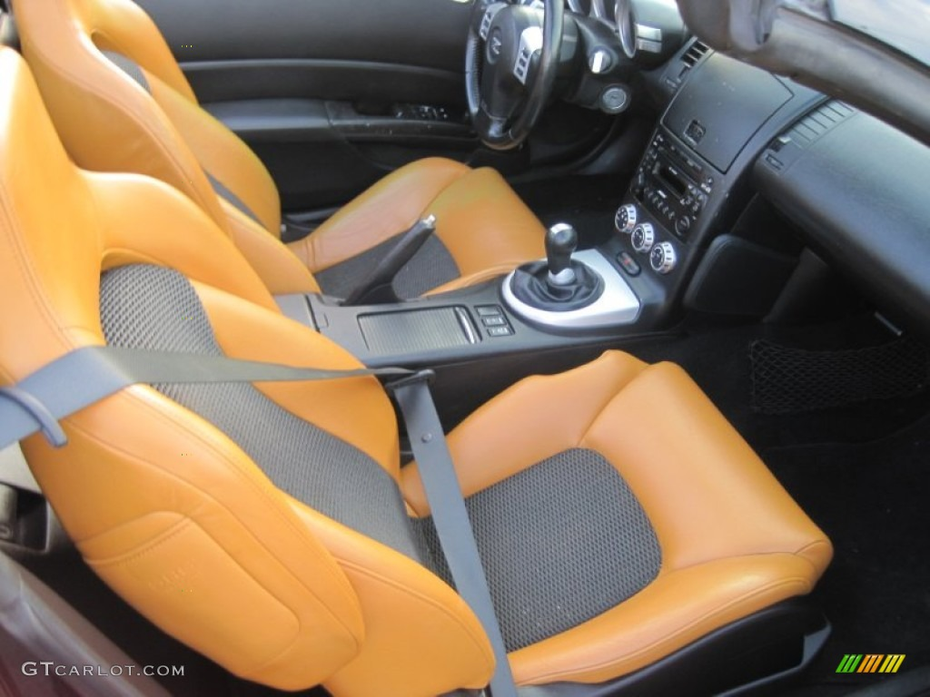 Burnt Orange Leather Interior 2006 Nissan 350z Touring