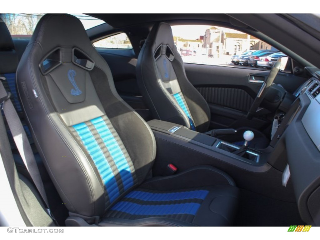 Shelby Charcoal Black Blue Accent Recaro Sport Seats