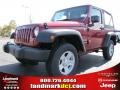 Deep Cherry Red Crystal Pearl 2013 Jeep Wrangler Sport 4x4