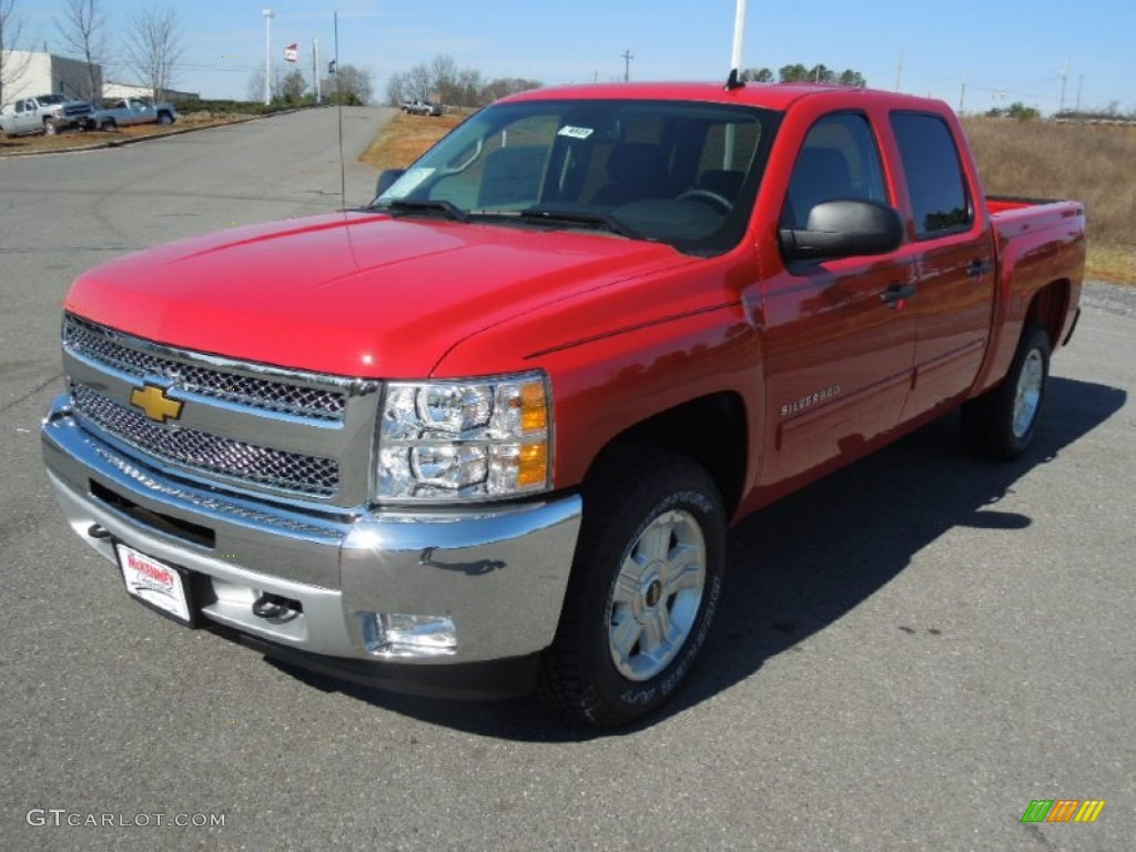 2013 Silverado 1500 LT Crew Cab - Victory Red / Ebony photo #1
