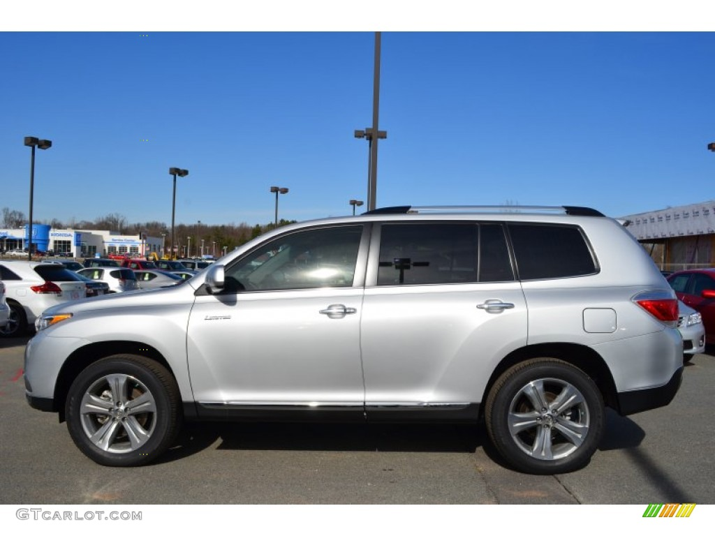 Classic Silver Metallic 2013 Toyota Highlander Limited 4wd Exterior Photo 77388507