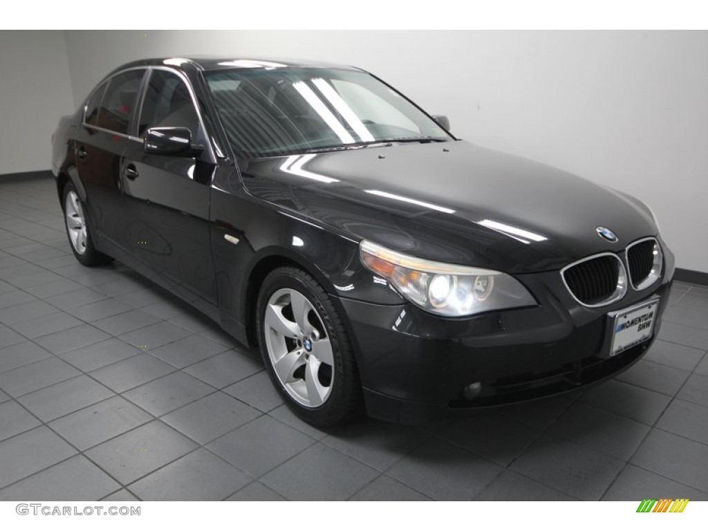 2005 black sapphire metallic bmw 5 series 530i sedan. Black Bedroom Furniture Sets. Home Design Ideas