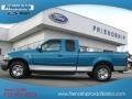 Island Blue Metallic 1999 Ford F150 XLT Extended Cab