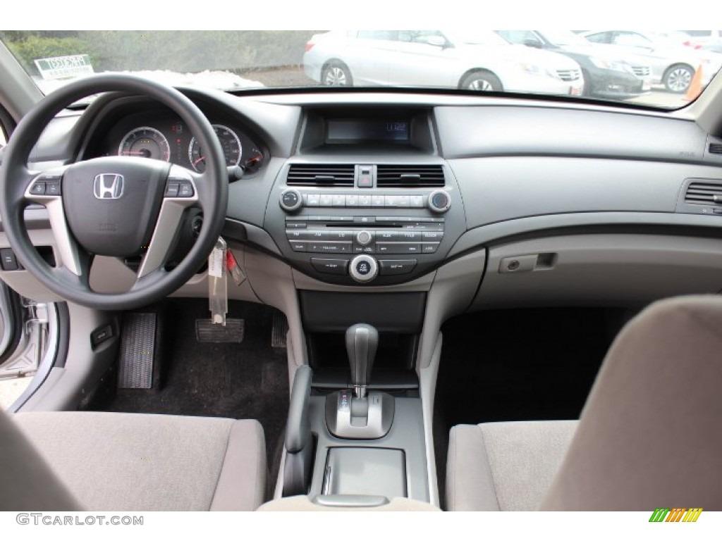 2010 Honda Accord LX P Sedan Gray Dashboard Photo #77422665