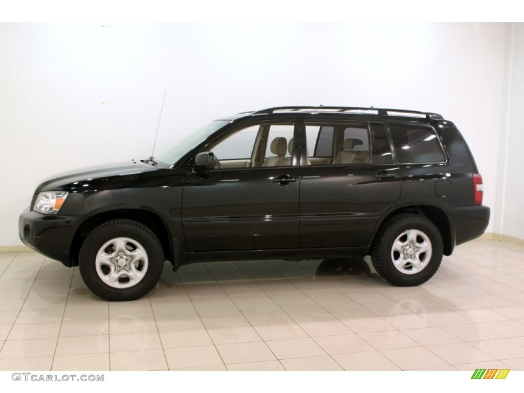 Black 2007 Toyota Highlander 4wd Exterior Photo 77443296