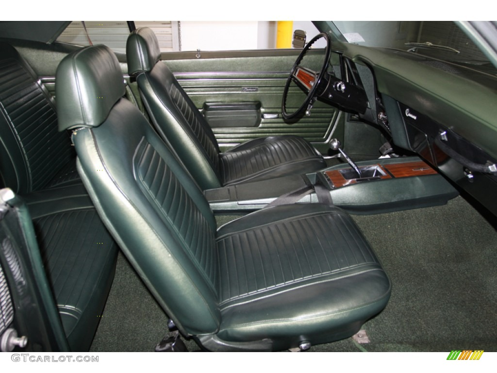 Midnight Green Interior 1969 Chevrolet Camaro Ss Coupe Photo
